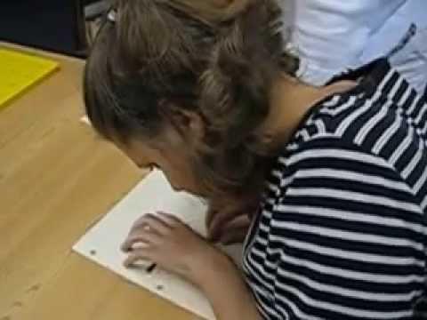 Jess Reads a Sentence in Braille