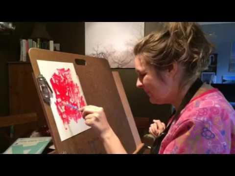 "Painting ""Sad That My Aunt Is Sick"""