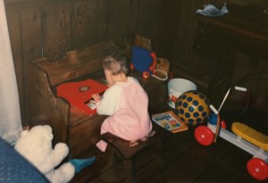 Jess and toys at toybox.