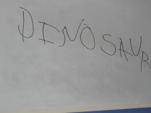 jess writing dinosaur
