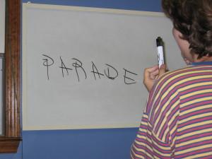 jess writing parade