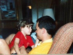 jess patting dad