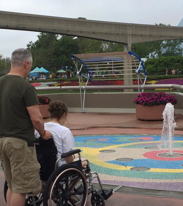 Watching the Water Fountain at Epcot