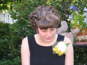 PROM 8, top of hair