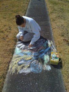 2010 - Drawing with sidewalk chalk