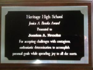 Senior Year - Jessica A Brooks Award