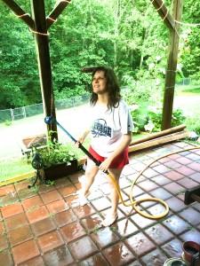 Jess on the Paver Patio