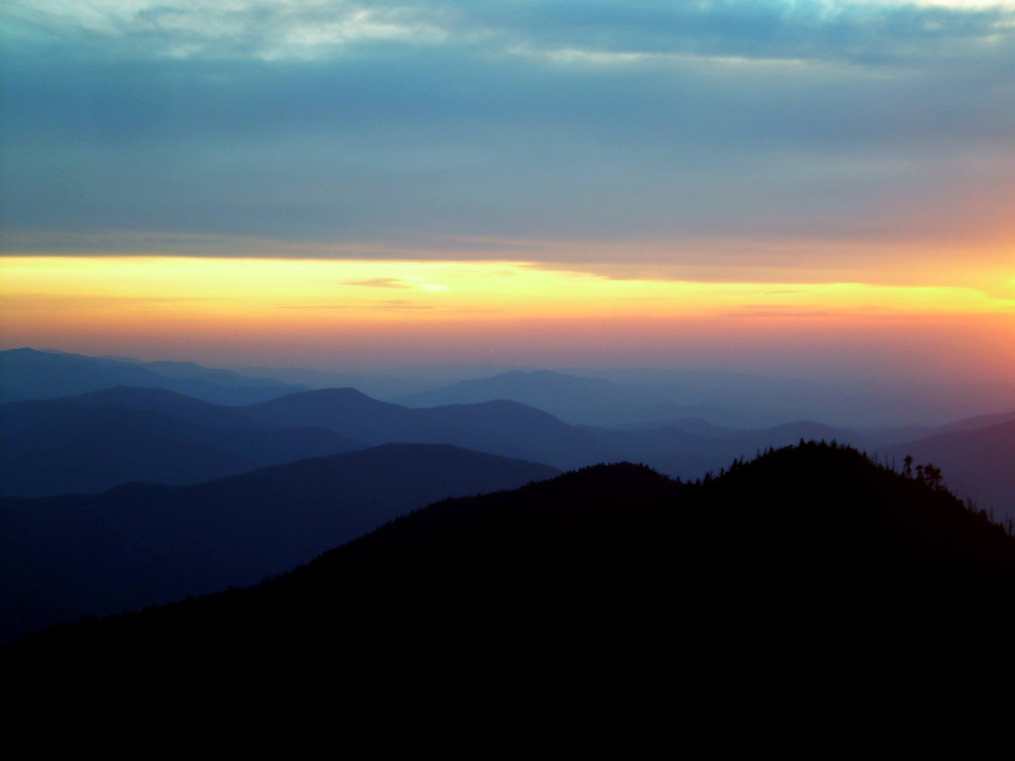 The blue haze that gently envelopes the Smoky Mountains and reminds me of how depression can unassumingly creep in.