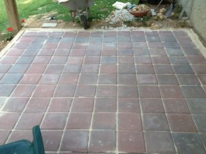paver patio almost complete
