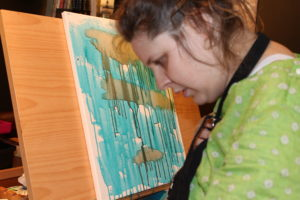 blind autistic painting