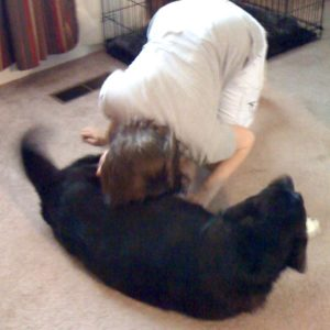 Jess learning to show affection to Abby