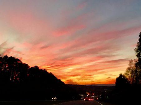 color details of sunset